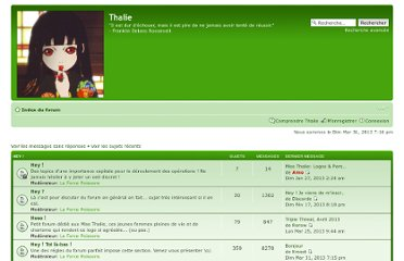 http://forum-thalie.fr/thalie/index.php