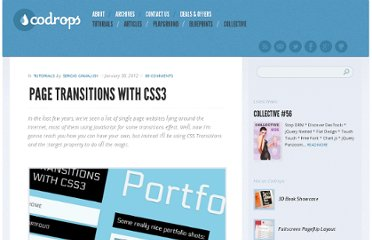 http://tympanus.net/codrops/2012/01/30/page-transitions-with-css3/
