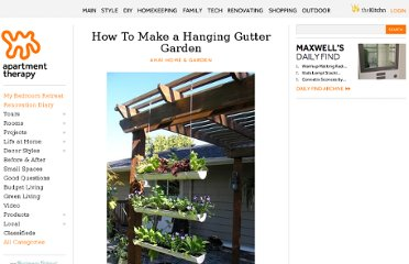 http://www.apartmenttherapy.com/how-to-make-a-hanging-gutter-g-143749