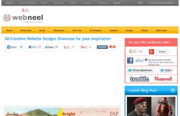 http://webneel.com/webneel/blog/30-creative-website-designs-showcase-your-inspiration