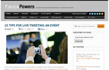 http://patrickpowers.net/2010/05/10-tips-for-live-tweeting-an-event/