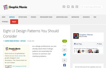 http://www.graphicmania.net/eight-ui-design-patterns-you-should-consider/