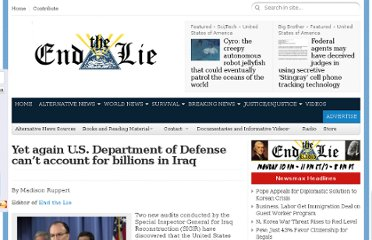http://endthelie.com/2012/01/30/yet-again-u-s-department-of-defense-cant-account-for-billions-in-iraq/#axzz1kuunt0Z0