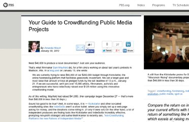 http://www.pbs.org/mediashift/2012/01/your-guide-to-crowdfunding-public-media-projects030.html