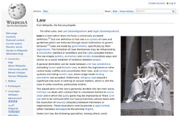 http://en.wikipedia.org/wiki/Law