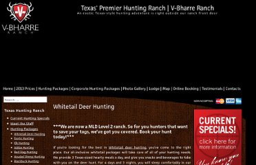 http://www.huntingtexastrophies.com/texas-hunting-packages/texas-whitetail-deer-hunting/