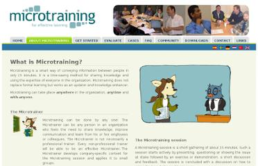 http://microtraining.eu/handbook/what-microtraining