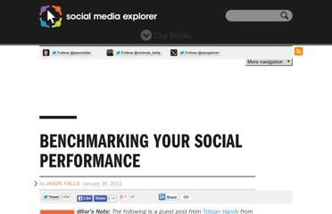 http://www.socialmediaexplorer.com/social-media-measurement/benchmarking-your-social-performance/
