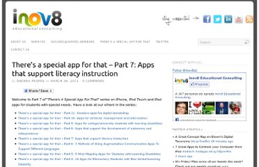 http://www.inov8-ed.com/2011/03/theres-a-special-app-for-that-part-7-apps-that-support-literacy-instruction/