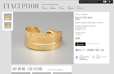 http://sowat.lexception.com/fr/femme/bijoux/bracelet/5544600318-11GD-Bracelet-The-Spirit-Gold