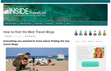 http://www.insidethetravellab.com/how-to-find-the-best-travel-blogs/