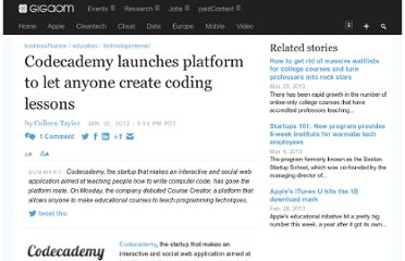 http://gigaom.com/2012/01/30/codecademy-launches-platform-course-creator/