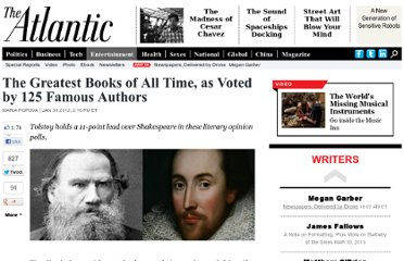 http://www.theatlantic.com/entertainment/archive/2012/01/the-greatest-books-of-all-time-as-voted-by-125-famous-authors/252209/