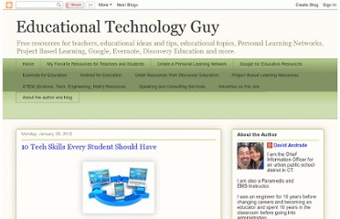 http://educationaltechnologyguy.blogspot.com/2012/01/10-tech-skills-every-student-should.html