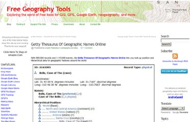 http://freegeographytools.com/2010/getty-thesaurus-of-geographic-names-online