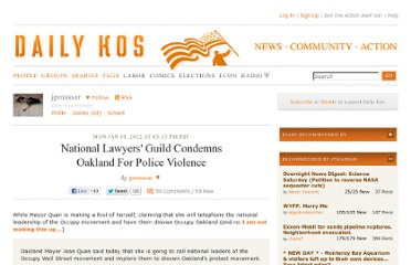 http://www.dailykos.com/story/2012/01/30/1060082/-National-Lawyers-Guild-Condemns-Oakland-For-Police-Violence