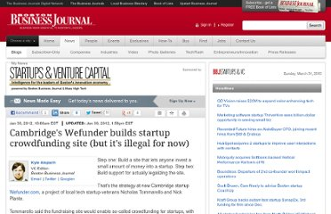 http://www.bizjournals.com/boston/blog/startups/2012/01/startup-wefunder-builds-crowdfunding.html