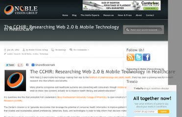 http://www.noblevisiongroup.com/technology/the-cchir-researching-web-2-0-mobile-technology-in-healthcare