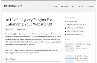 http://designwoop.com/2012/01/10-useful-jquery-plugins-for-enhancing-your-website-ux/