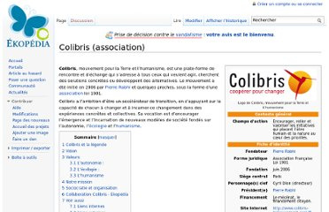 http://fr.ekopedia.org/Colibris_%28association%29