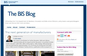 http://blogs.bis.gov.uk/blog/2011/10/19/the-next-generation-of-manufacturers/