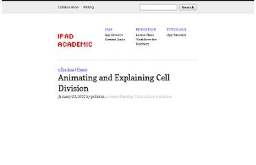 http://www.ipadacademic.com/education/lesson-plans/animating-and-explaining-cell-division