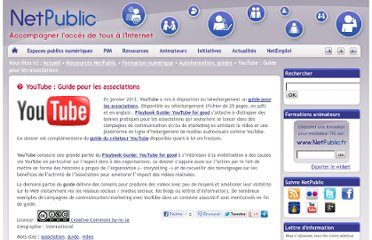 http://www.netpublic.fr/2012/01/youtube-guide-pour-les-associations/