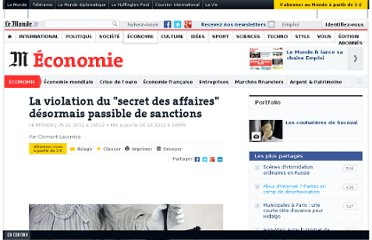 http://www.lemonde.fr/economie/article/2012/01/25/la-violation-du-secret-des-affaires-desormais-passible-de-sanctions_1634170_3234.html