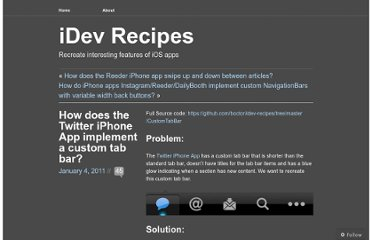 http://idevrecipes.com/2011/01/04/how-does-the-twitter-iphone-app-implement-a-custom-tab-bar/