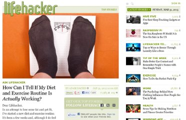 http://lifehacker.com/5880740/how-can-i-tell-if-my-diet-and-exercise-routine-is-working