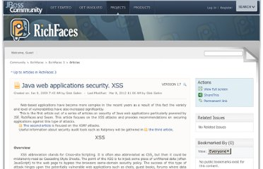 https://community.jboss.org/wiki/JavawebapplicationssecurityXSS