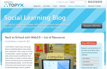 http://interactyx.com/social-learning-blog/back-to-school-with-web2-0-list-of-resources/