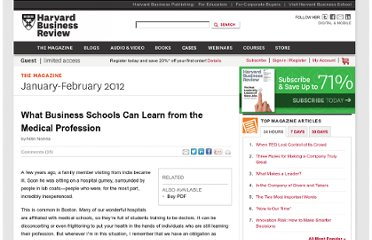 http://hbr.org/2012/01/what-business-schools-can-learn-from-the-medical-profession/ar/1