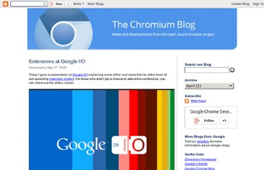 http://blog.chromium.org/2009/05/extensions-at-google-io.html