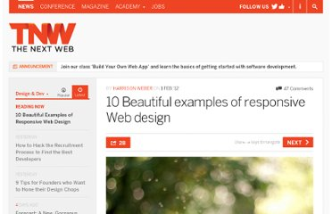 http://thenextweb.com/dd/2012/02/01/10-beautiful-examples-of-responsive-web-design/