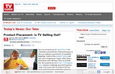 http://www.tvguide.com/news/product-placement-tv-1042607.aspx