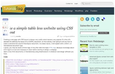 http://www.tutorialstag.com/make-tableless-website-using-css-layout.html