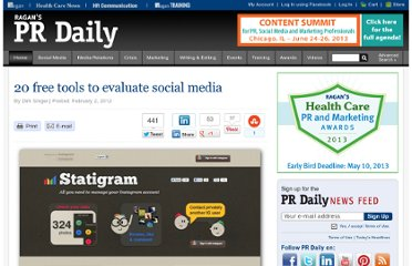 http://www.prdaily.com/Main/Articles/20_free_tools_to_evaluate_social_media_10711.aspx