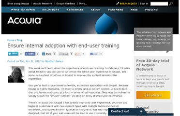 http://www.acquia.com/blog/ensure-internal-adoption-end-user-training