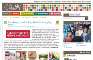 http://www.larkcrafts.com/uncategorized/its-a-wrap-quick-easy-diy-gift-wrapping-ideas/
