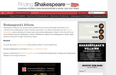 http://findingshakespeare.co.uk/online-exhibitions/shakespeares-villains