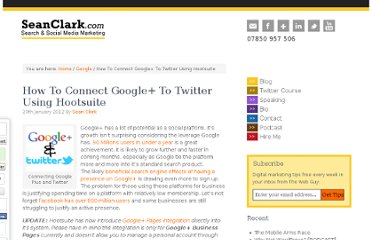 http://seanclark.com/google/how-to-connect-google-to-twitter-using-hootsuite/