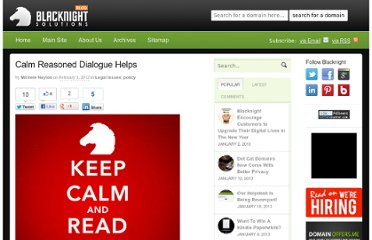 http://blog.blacknight.com/calm-reasoned-dialogue-helps.html