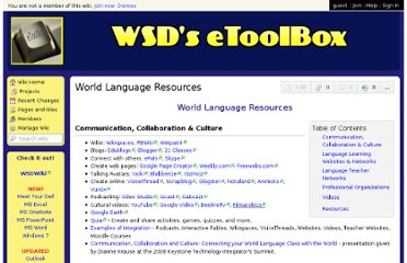 http://etoolbox.wikispaces.com/World+Language+Resources