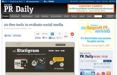 http://www.prdaily.com/Main/Articles/20_free_tools_to_evaluate_social_media_10711.aspx#