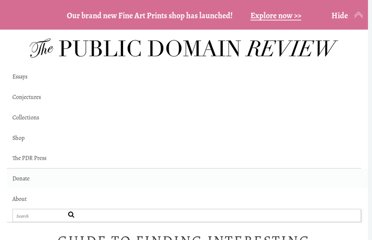 http://publicdomainreview.org/guide-to-finding-interesting-public-domain-works-online/