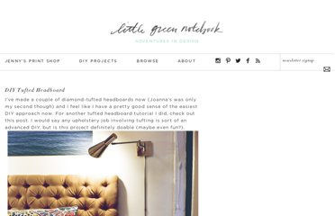 http://littlegreennotebook.blogspot.com/2012/02/diy-tufted-headboard.html