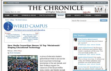 http://chronicle.com/blogs/wiredcampus/new-media-consortium-names-10-top-metatrends-shaping-educational-technology/35234