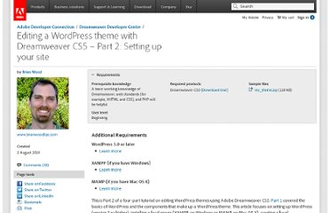 http://www.adobe.com/devnet/dreamweaver/articles/dw_wordpress_pt2.html