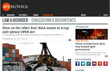 http://arstechnica.com/tech-policy/news/2012/02/shoe-on-the-other-foot-riaa-calls-for-open-act-to-be-scrapped.ars